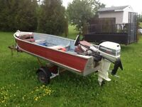 14ft Aluminum Fishing Boat Fully Equipped