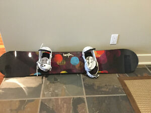 Burton snowboard and bindings Campbell River Comox Valley Area image 1