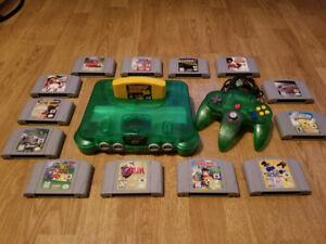 Jungle Green N64 With Games Priced Separately