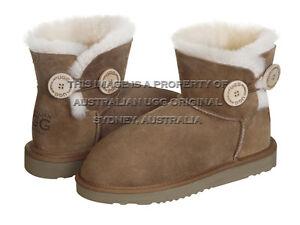 """AUSTRALIAN UGG ORIGINAL"" Classic Button Mini ugg boots, chestnut Darlinghurst Inner Sydney Preview"