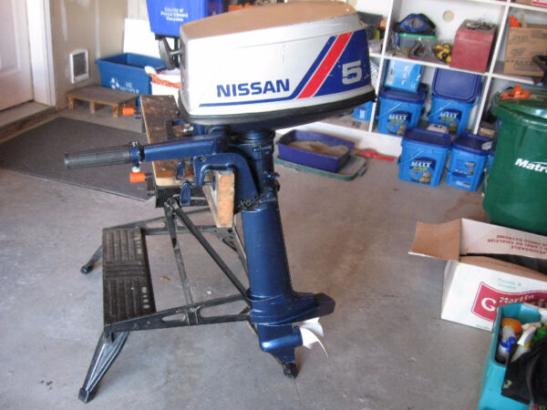Used 1990 Nissan 5 HP - 2 Cycle -- Long Shaft Outboard