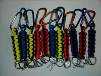 550 PARACORD SURVIVAL KEYCHAINS