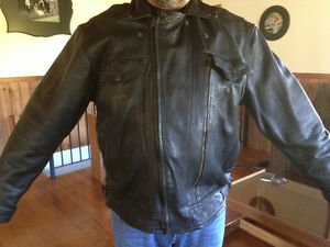 Men's and women's Leather Bike Jackets, vest, chaps and helmets
