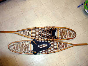 traditional wooden snowshoes