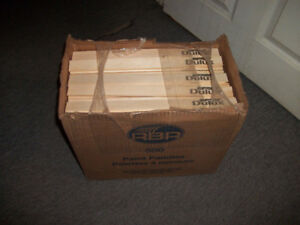 Box of 500 Brand New Wooden Paint Paddles / Stir Sticks