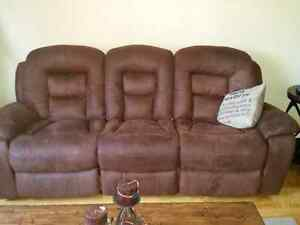 Electric reclining sofa and love seat