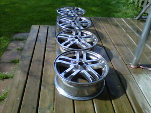 Four GM 16 inch Chrome Rims