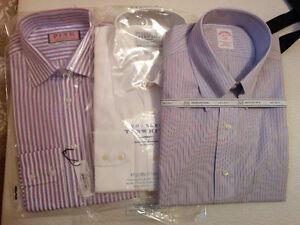 Thomas Pink, Brooks Bro 3 dress shirts, 16 / 15.5 w 34/35 sleeve