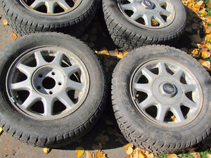 Set of 215/60R15 Tires, Studded, on Chev Rims; Very Good Tread Prince George British Columbia image 3
