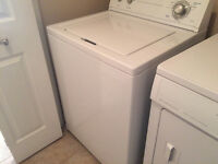 Side by side washer/dryer