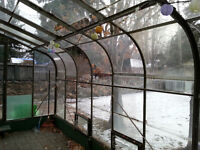 Outdoor Glass Greenhouse Frame ~20'L x 8'W x 8'H