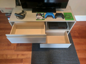 TV + Stand + xBox, games, controllers
