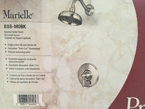 Brushed nickel Price Pfister tub and shower set