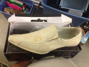 Cream Snake Leather Shoes