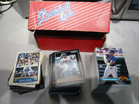 Early 90s Basball Cards, Pinnacle, Score, Topps S Club 250+