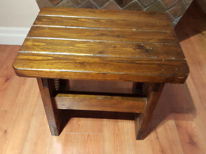 WELL BUILT, Solid Wood End Table...
