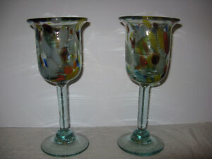 Hand made Art Glass Goblets London Ontario image 4