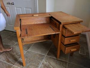 Antique desk solid wood.