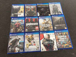 PS4 Games, Complete in mint Condition.