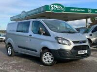 2018 Ford Transit Custom 2.0 310 LR DCB 104 BHP PANEL VAN Diesel Manual
