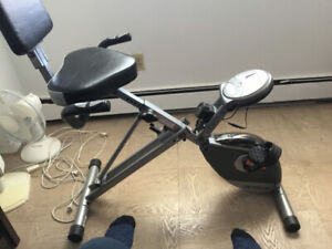 Exerpeutic exercise bike, foldable