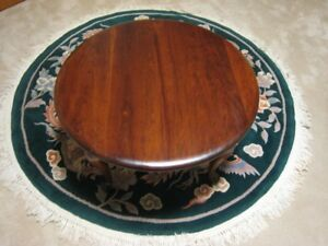 "Gibbard Solid Mahogany 28"" Round Coffee Table Make a Offer"