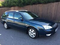 2004 FORD MONDEO 2.0 GHIA ESTATE AUTOMATIC ONLY 65k LOW MILES