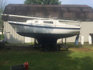 24 foot sailboat with trailer