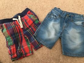 Boys shorts. Benetton and Joules