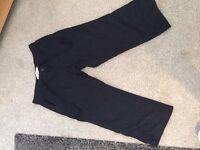Next black crop linen trousers size 8R