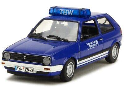 1:43 Volkswagen Golf THW 1985 1/43 • MINICHAMPS 400054190 #
