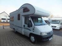 Bessacarr e425 four berth motorhome for sale rear lounge