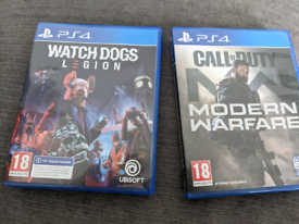 Call of duty Modern Warfare and Watchdogs Legion PS4