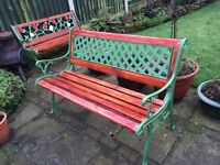 Antique refurbished benches
