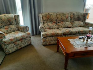 Three seater lounge and 2 armchairs to match. Ardmona Shepparton City Preview