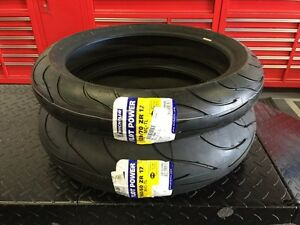 ★ NEW Michelin Pilot Power 2CT Motorcycle Tires 160 / 120 Set ★
