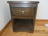 Night stand in cherry brown at $5