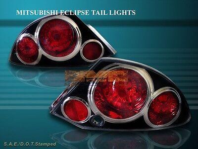 2000-2002 MITSUBISHI ECLIPSE TAIL LIGHTS BLACK G2 01 -
