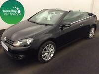 £224.27 PER MONTH BLACK 2013 VW GOLF CABRIOLET 1.6 BLUEMOTION TECH SE MANUAL