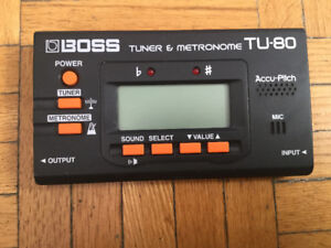 Boss TU 80 Tuner and Metronome device, like new used 2 times