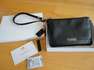 Coach limited edition black leather wristlet purse New in box London Ontario image 1