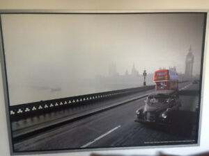 IKEA framed picture of London taxi and bus
