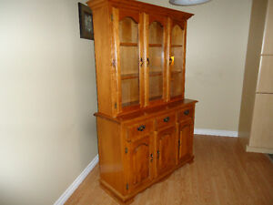 Two Piece Hutch & Buffet $ 225.00  OBO
