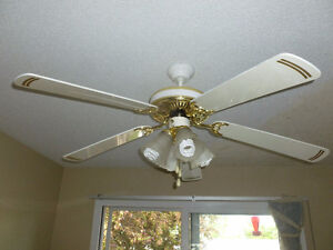 fan and lights