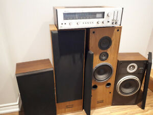 Four Way Stereo  Receiver/ 4 Speakers
