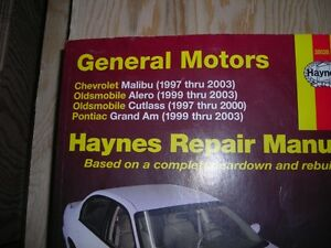 Haynes Repair Manuals for GM 97-03 Chev/Olds; Alero;Grand Am