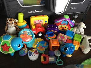 Infant toy and stuffed animal lot