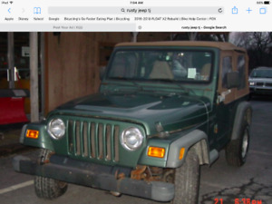 Rusty Jeep TJ wanted