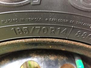 Toyo Observe Winter Tires 185 70 R14 on Honda Civic Rims
