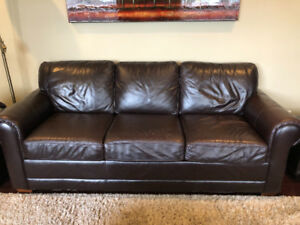Top Grain leather Sofa and Loveseat